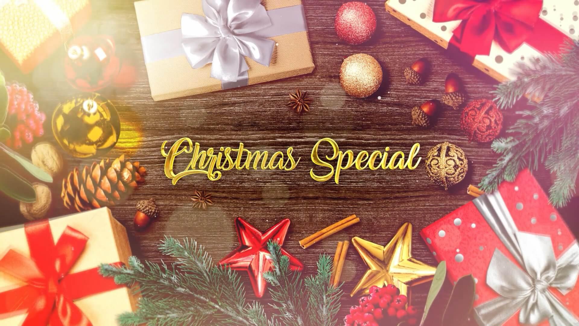 fcpx插件 圣诞节家庭庆祝幻灯片图文展示相册模板 Christmas Slideshow