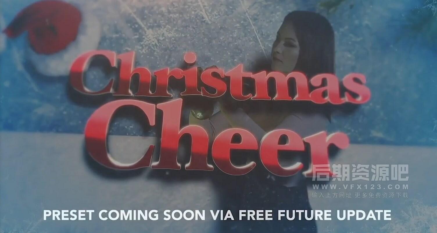 fcpx插件 30组圣诞节定格冻结帧效果大标题制作预设 3D Freeze Frame christmas