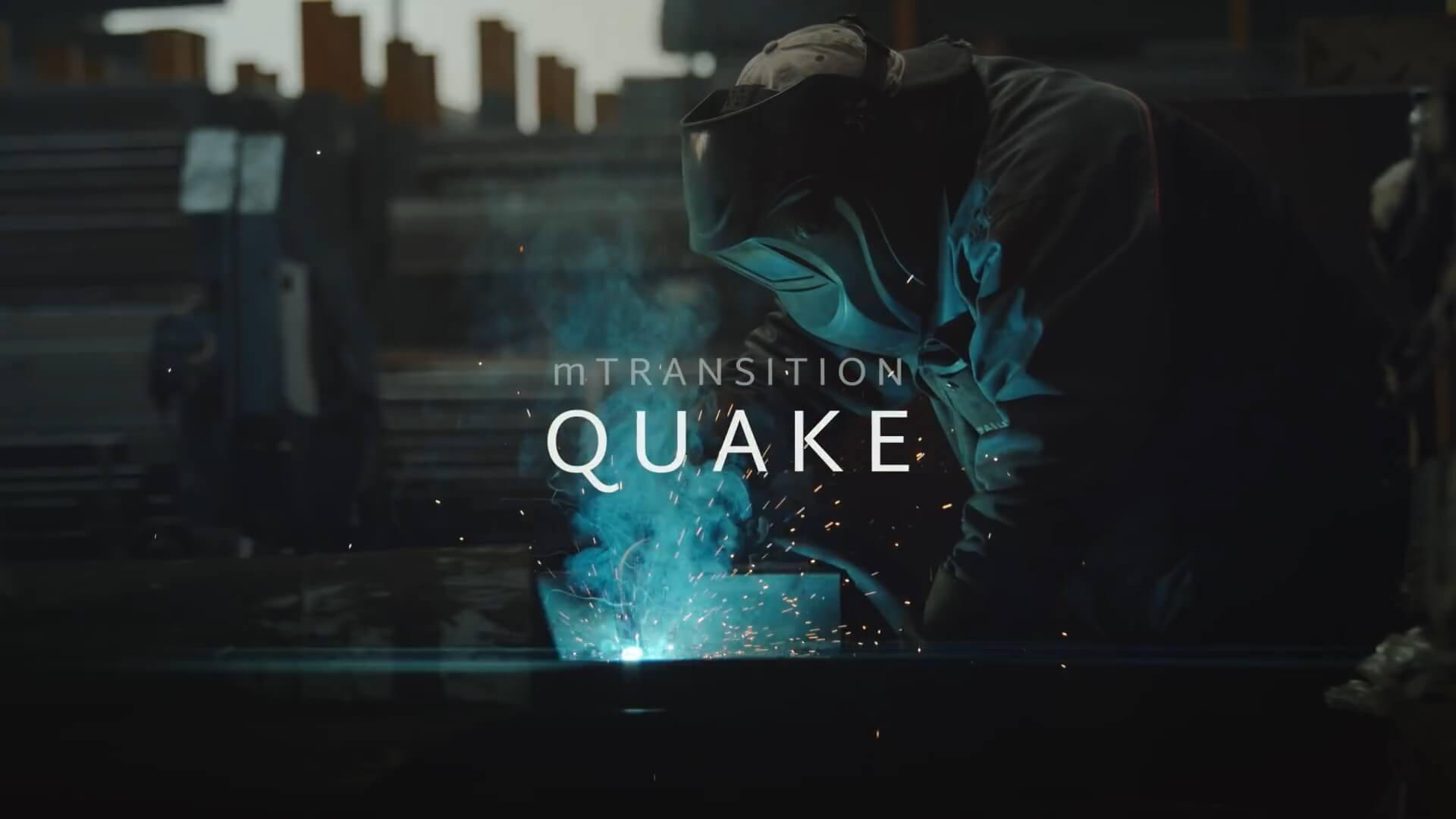 FCPX转场插件 50种震撼史诗电影大片抖动过渡 mTransition Quake 完整版 支持M1