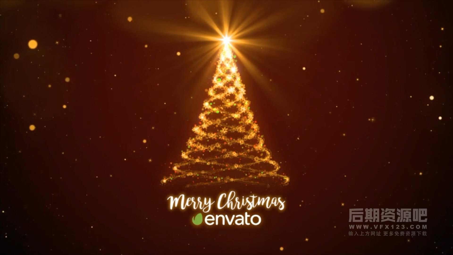 fcpx插件 圣诞节活动开场片头模板 多版本 Christmas Logo