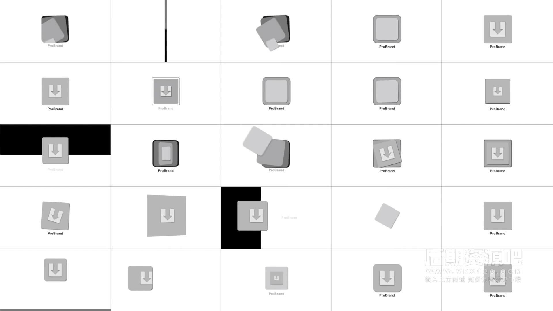 fcpx插件 30组创意徽标LOGO展示动画模板 ProBrand Reveal V7
