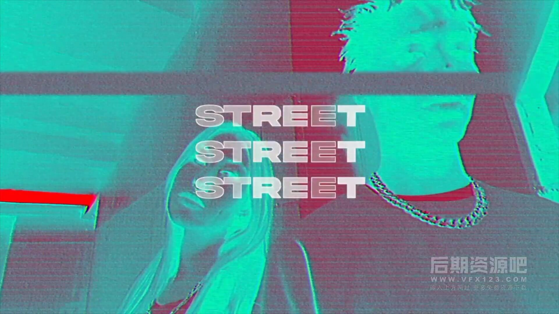 fcpx插件 时尚街头VHS毛刺效果图文展示片头 VHS Street Opener