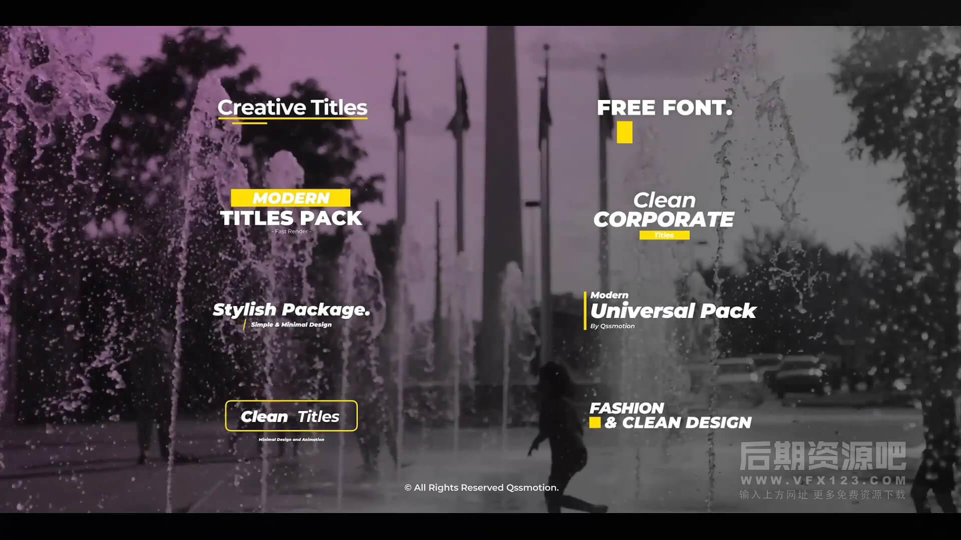 fcpx插件 8个4K迷你创意标题模板 Minimal and Creative Titles