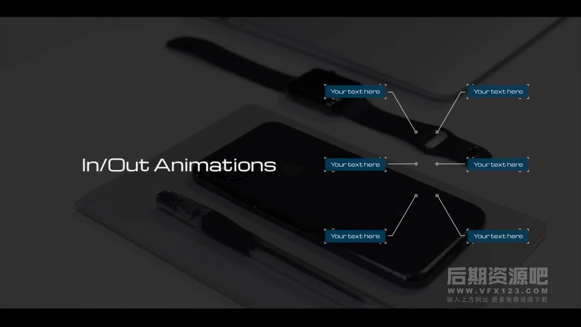 fcpx插件 18种高科技数码风格线条呼出标题注释动画模板 Hi-Tech Call Outs