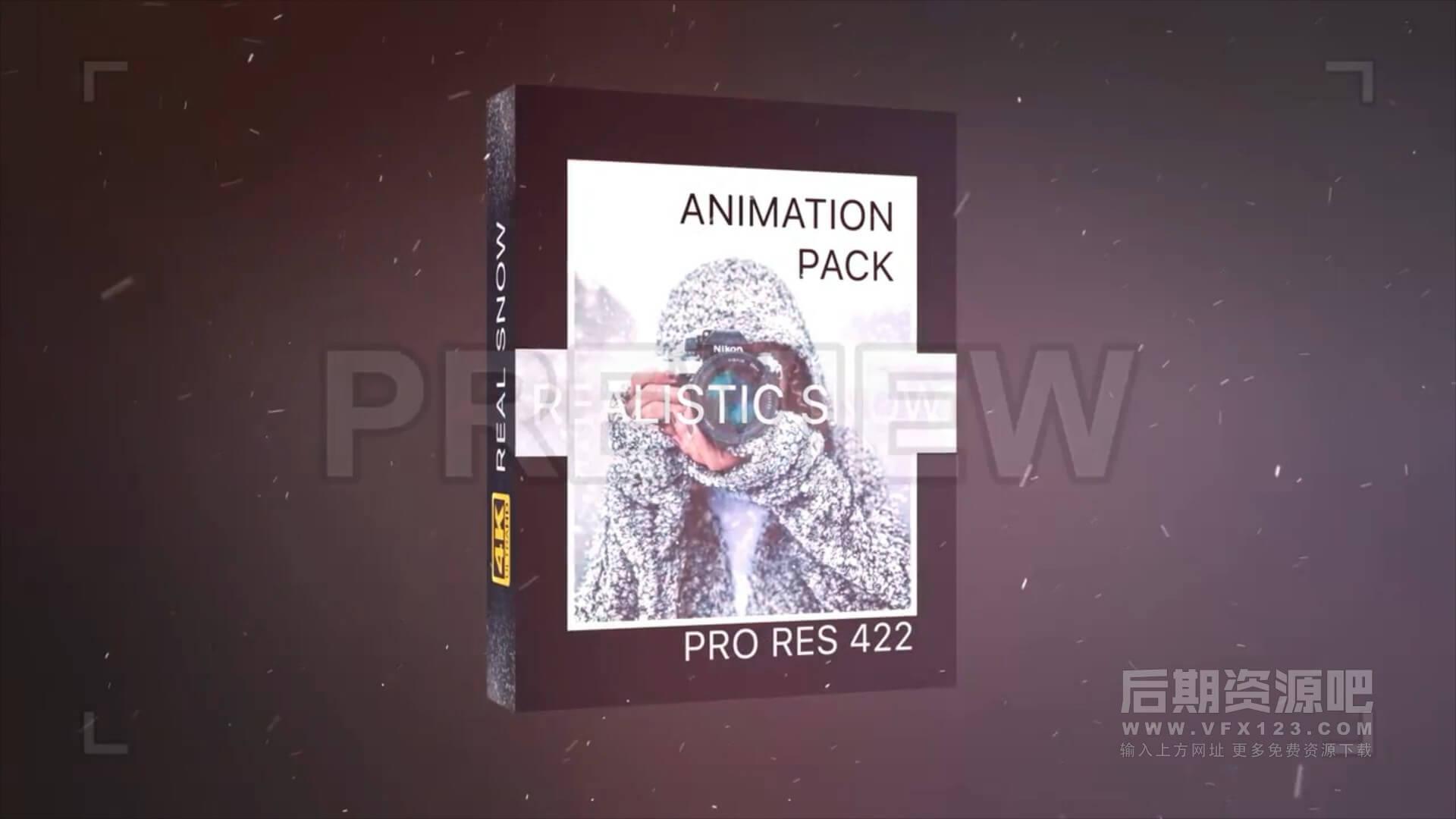 视频素材 21个4K为影片添加下雪特效合成素材 Realistic Snow Effects