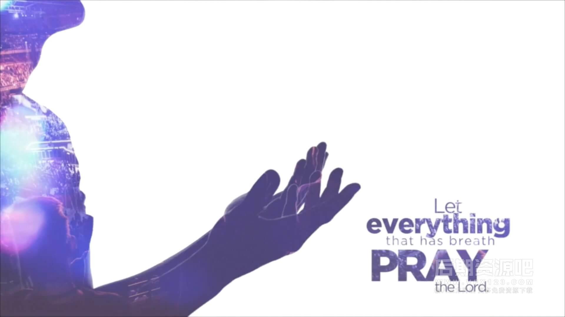 fcpx插件 10组唯美双重曝光效果制作预设 附6组光效叠加素材 The Pray