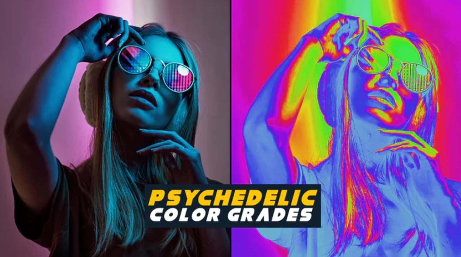 LUTs预设 20组红外热成像效果迷幻色彩调色预设 Psychedelic Color Grades