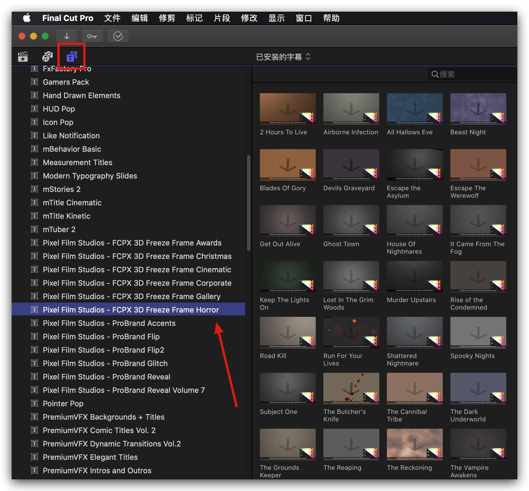 fcpx插件 30组恐怖风格定格冻结帧效果制作预设 3D Freeze Frame Horror