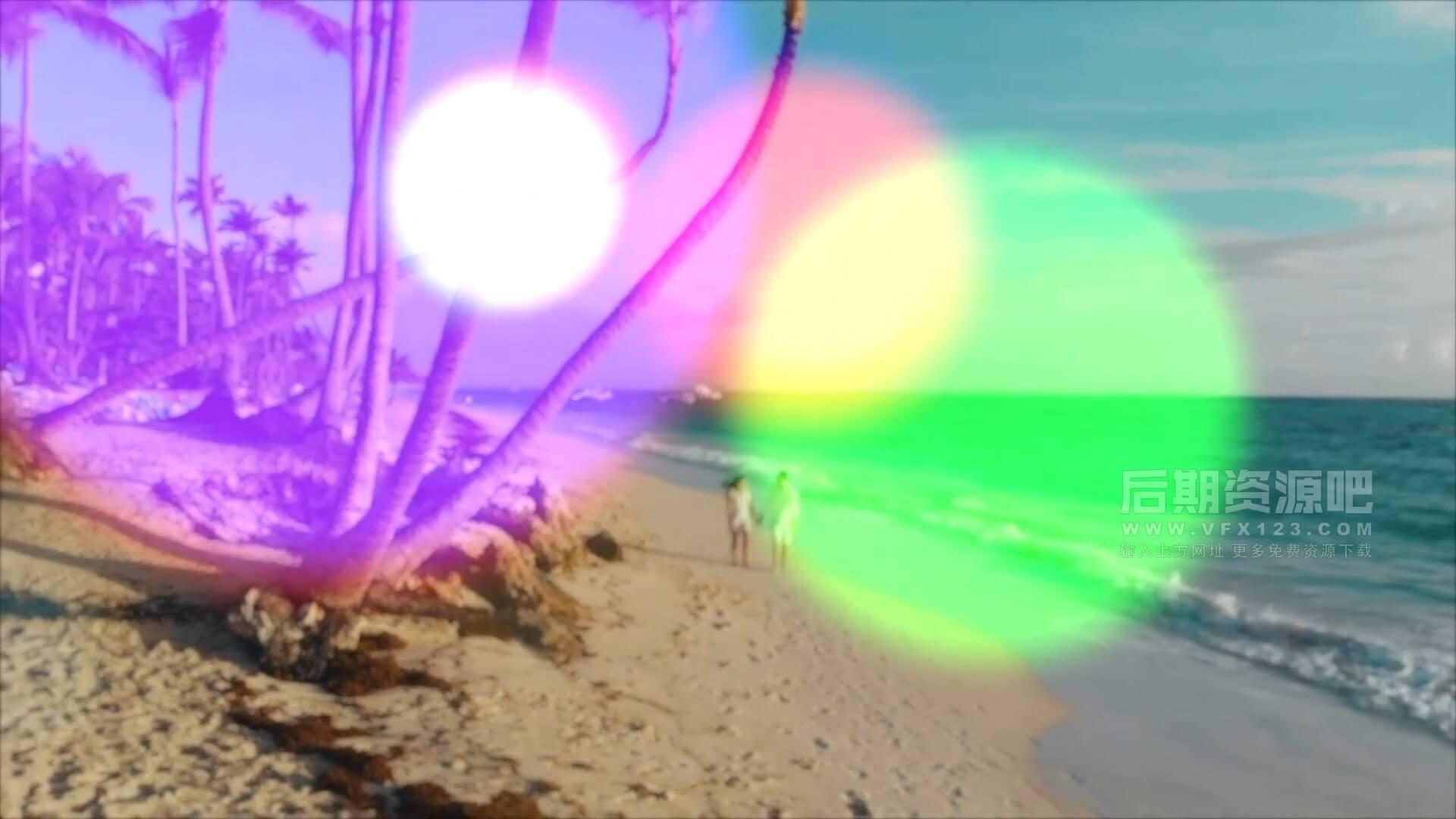 fcpx插件 为影片添加镜头光斑炫光光晕效果预设 Bokeh Effect