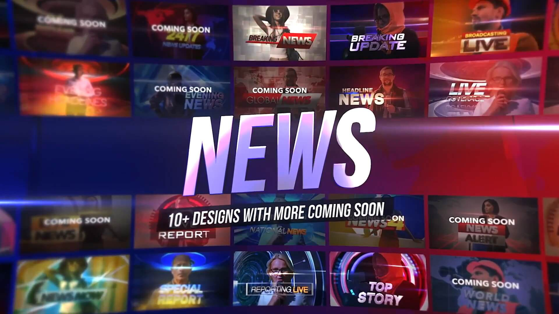fcpx插件 30组新闻栏目风格定格冻结帧效果制作预设 3D Freeze Frame News