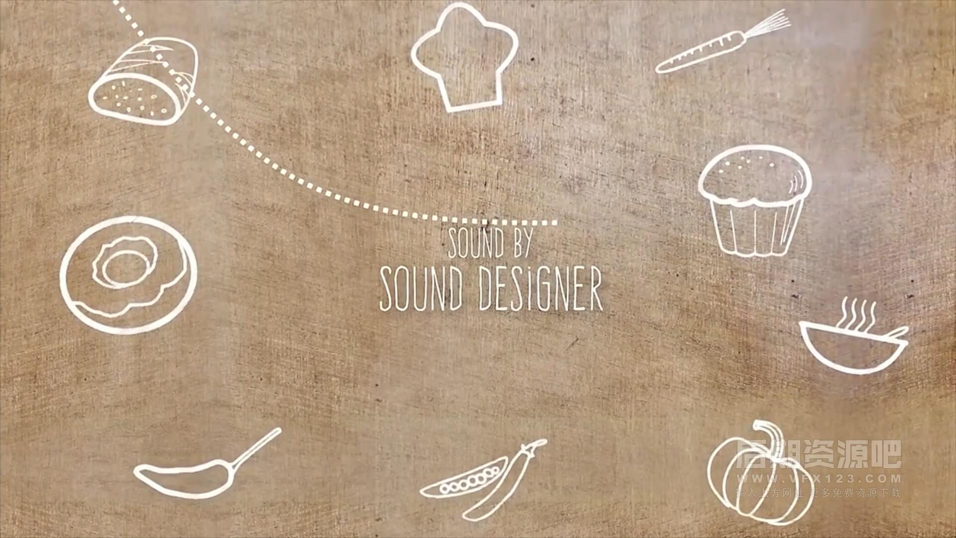fcpx插件 美食秀栏目包装分镜片头片尾图片展示字幕条 Food Show