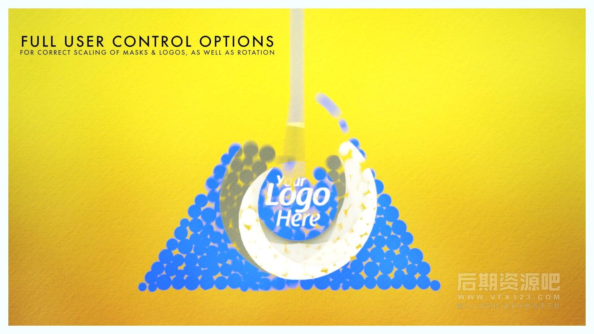 fcpx插件 球体下落动画效果徽标LOGO展示动画模板 ProReveal Spheres