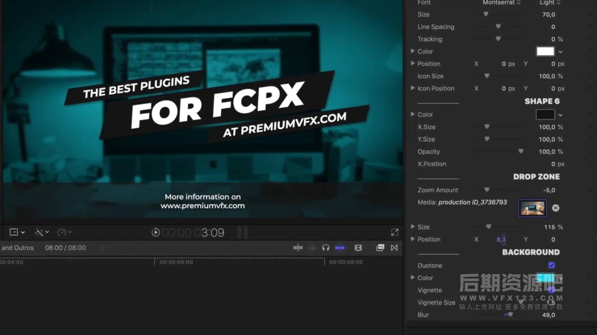 fcpx插件 30组时尚大标题版式设计片头片尾动画预设模板 支持M1 Intros and Outros