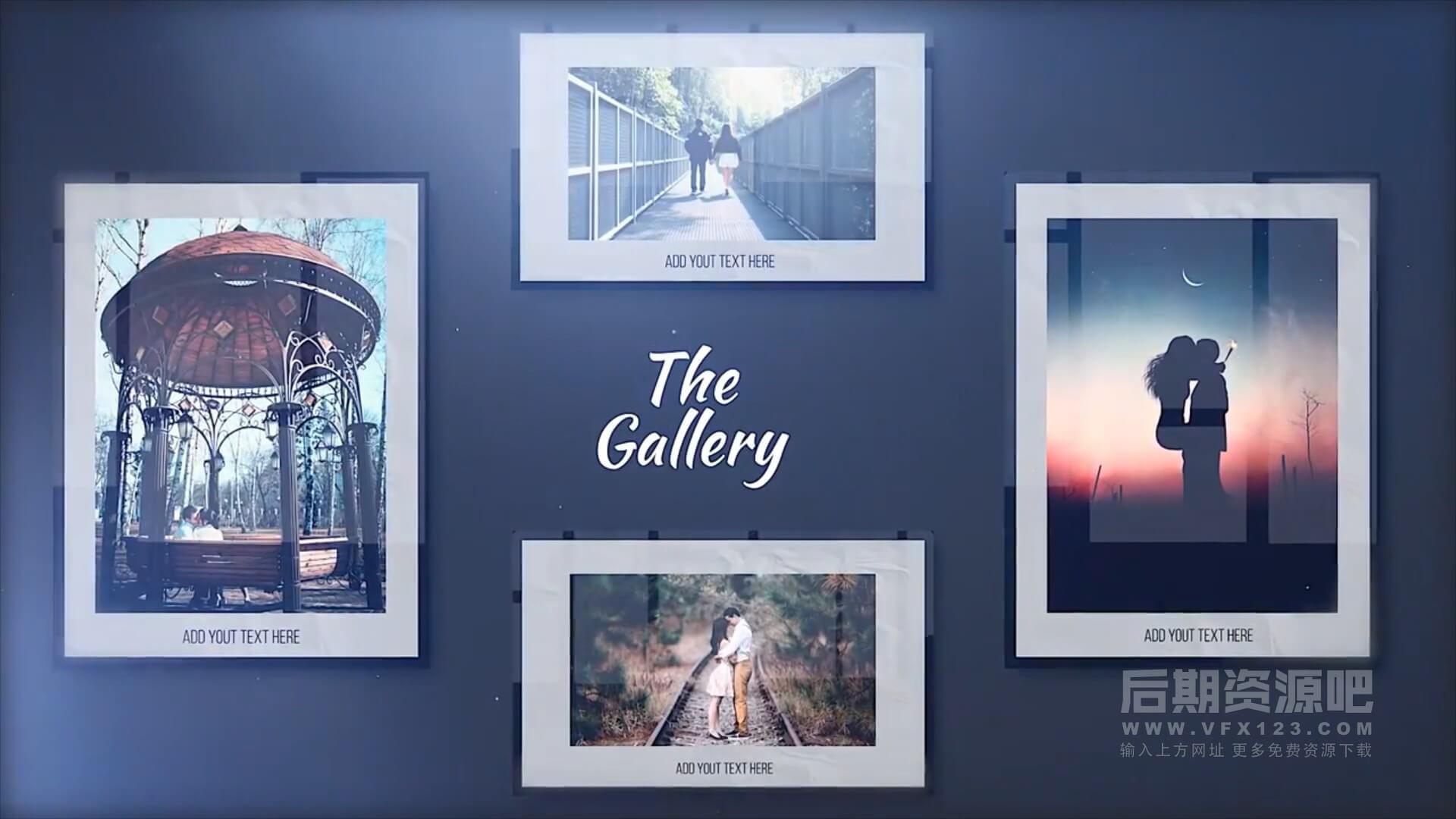 fcpx插件 温馨浪漫纪念电子相册图文展示模板 13个分镜 The Gallery