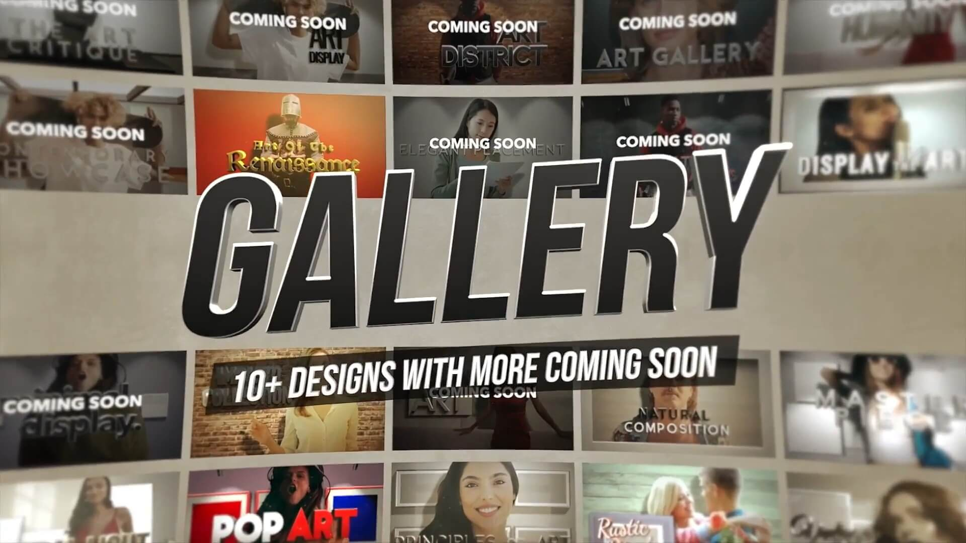 fcpx插件 30组画廊风格定格冻结帧效果制作预设 3D Freeze Frame Gallery