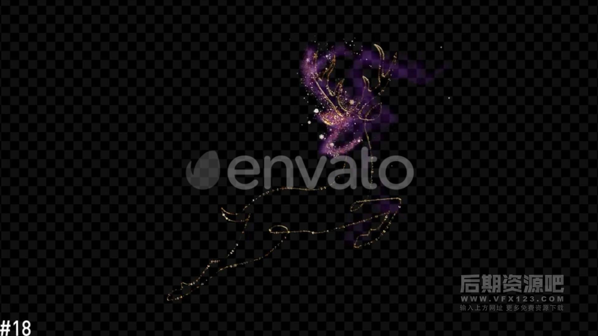 视频素材 70个4K圣诞节魔法粒子叠加素材 Magical Elementals
