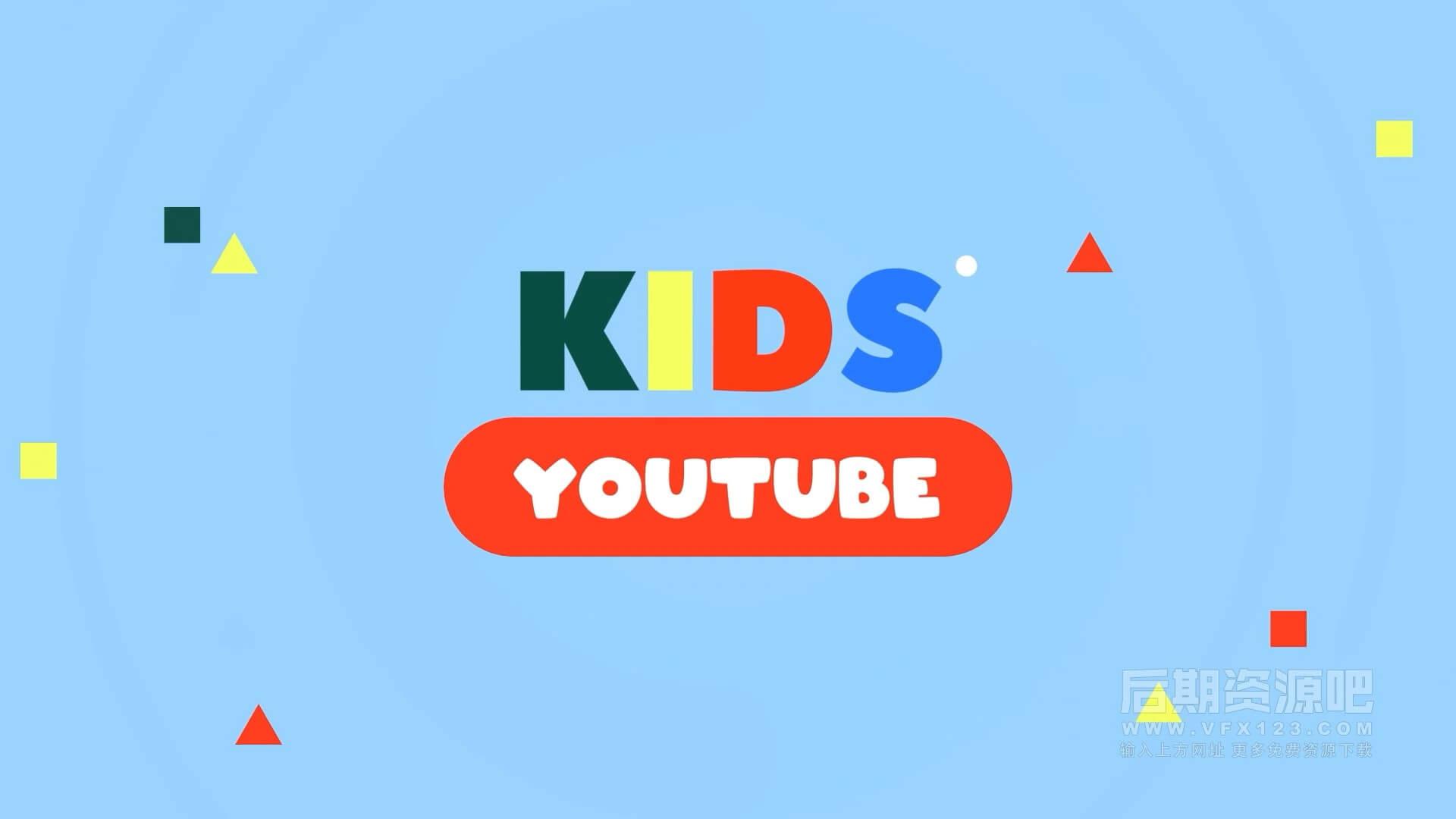 fcpx插件 儿童博主Vlog短视频包装模板 订阅标题字幕等 Kid's Vlog