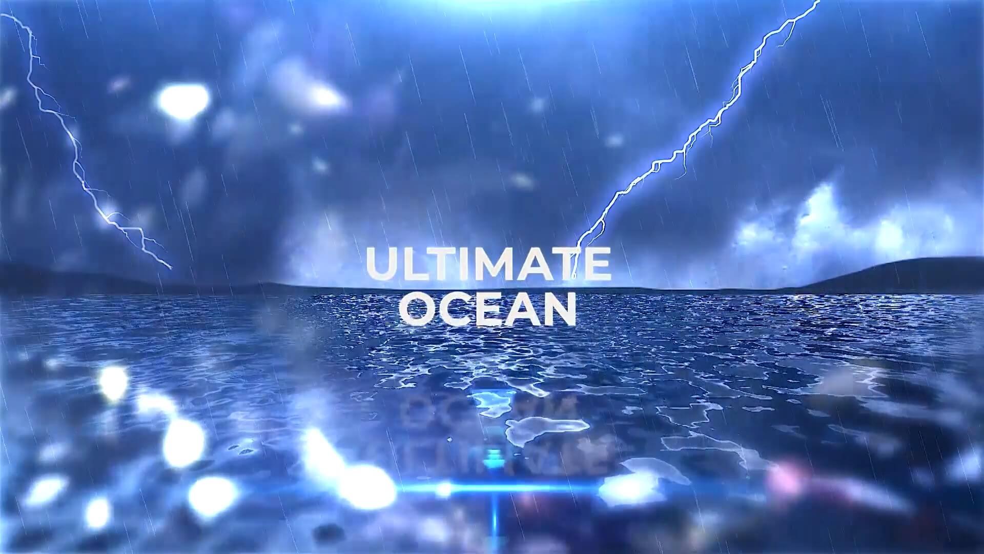 fcpx插件 大气海洋主题电影预告片片头模板 Ultimate Ocean for Credits