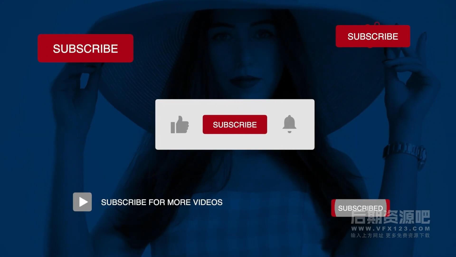 fcpx插件 自媒体博主影片制作常用工具包 点赞订阅片头片尾预告转场画中画等 Vlogger