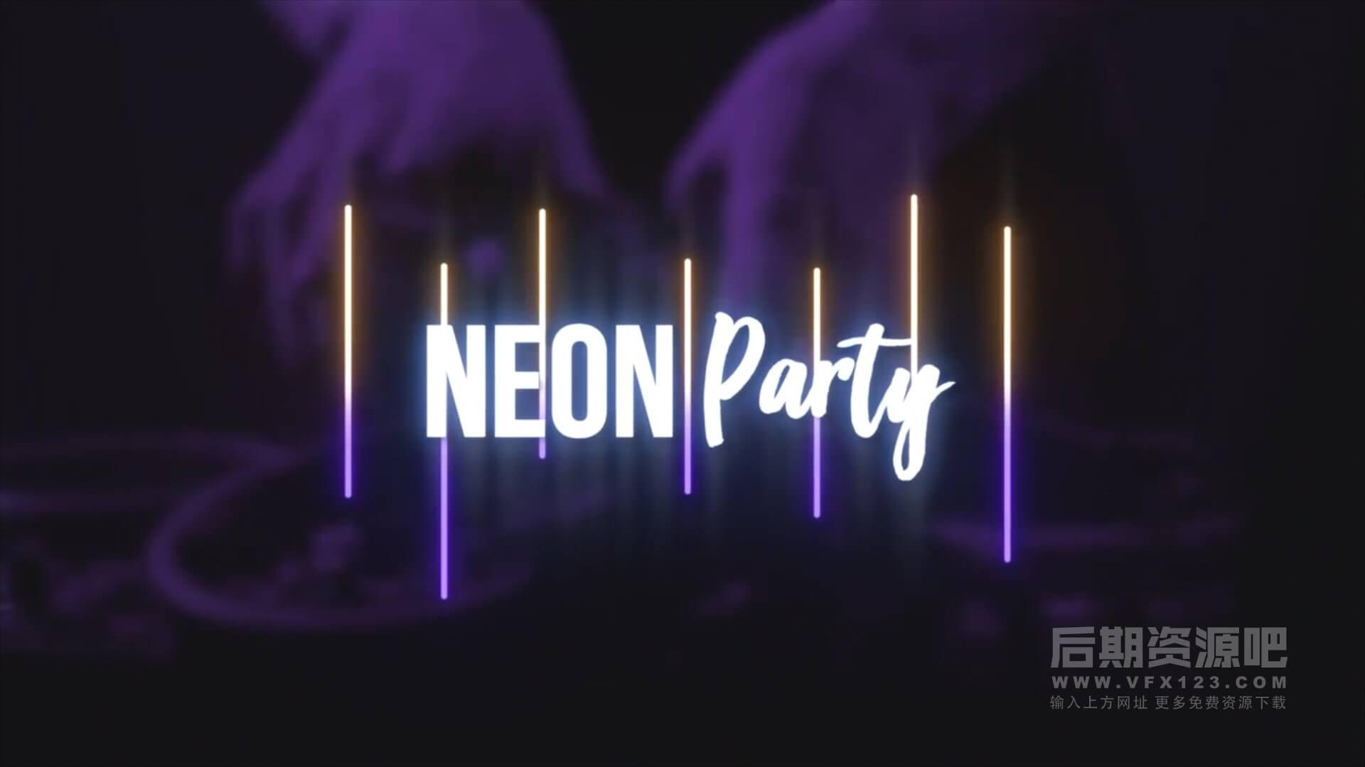 fcpx插件 霓虹灯标题制作工具包 简单易用 Neon Titles Toolkit