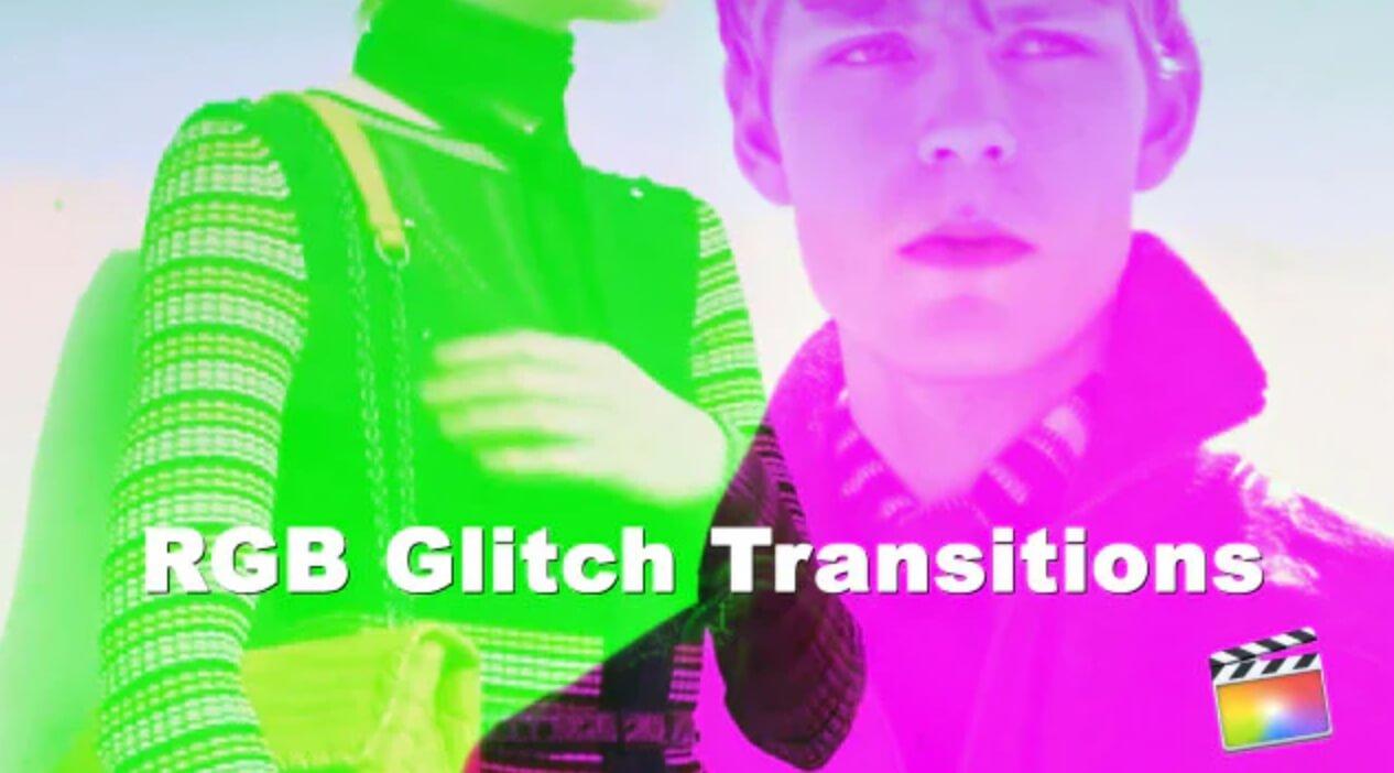fcpx转场插件 RGB毛刺分割效果过渡转场预设 RGB Split Glitch Transition