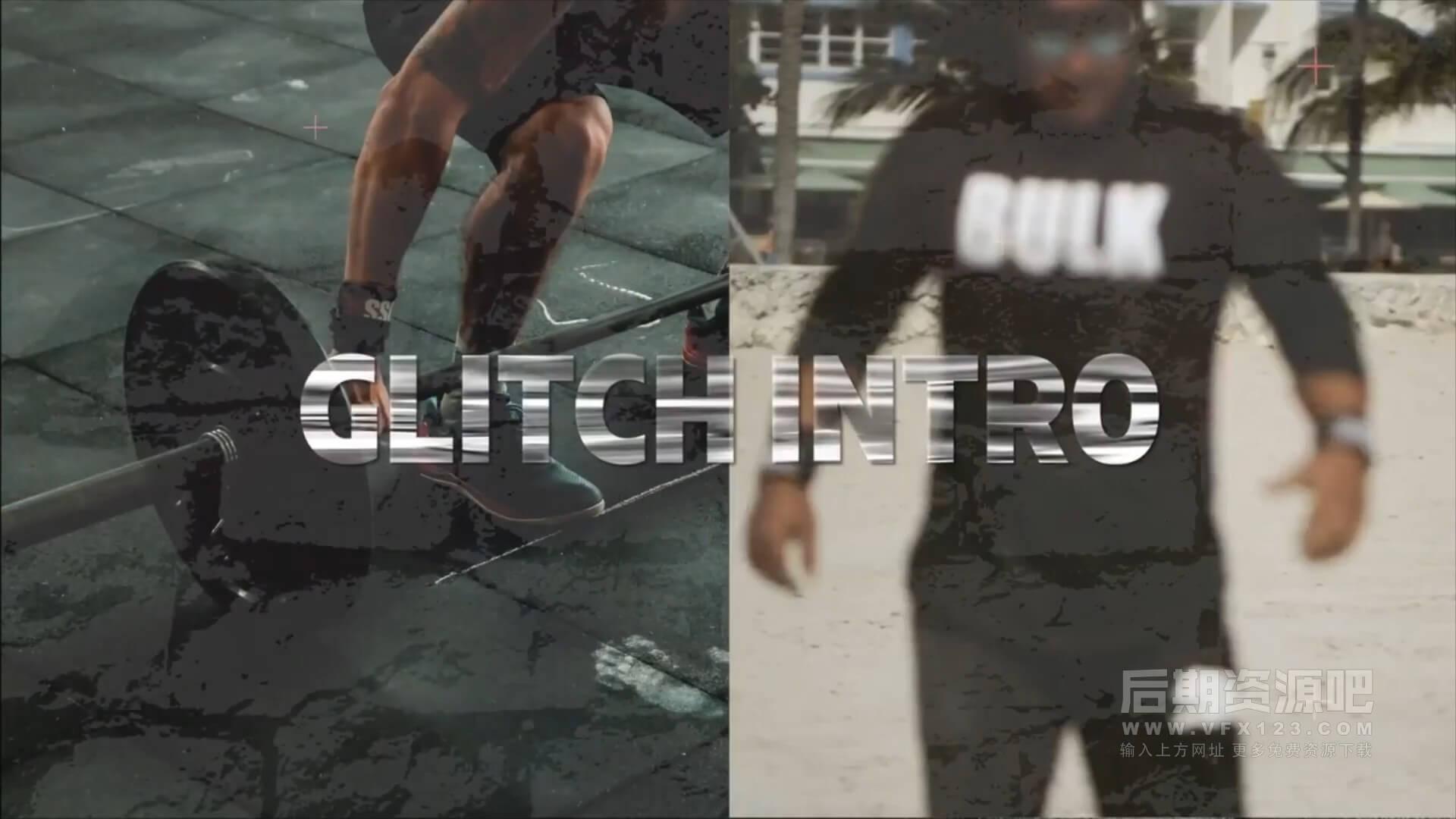 fcpx插件 故障干扰效果3D标题预告片模板 Fast Glitch Intro