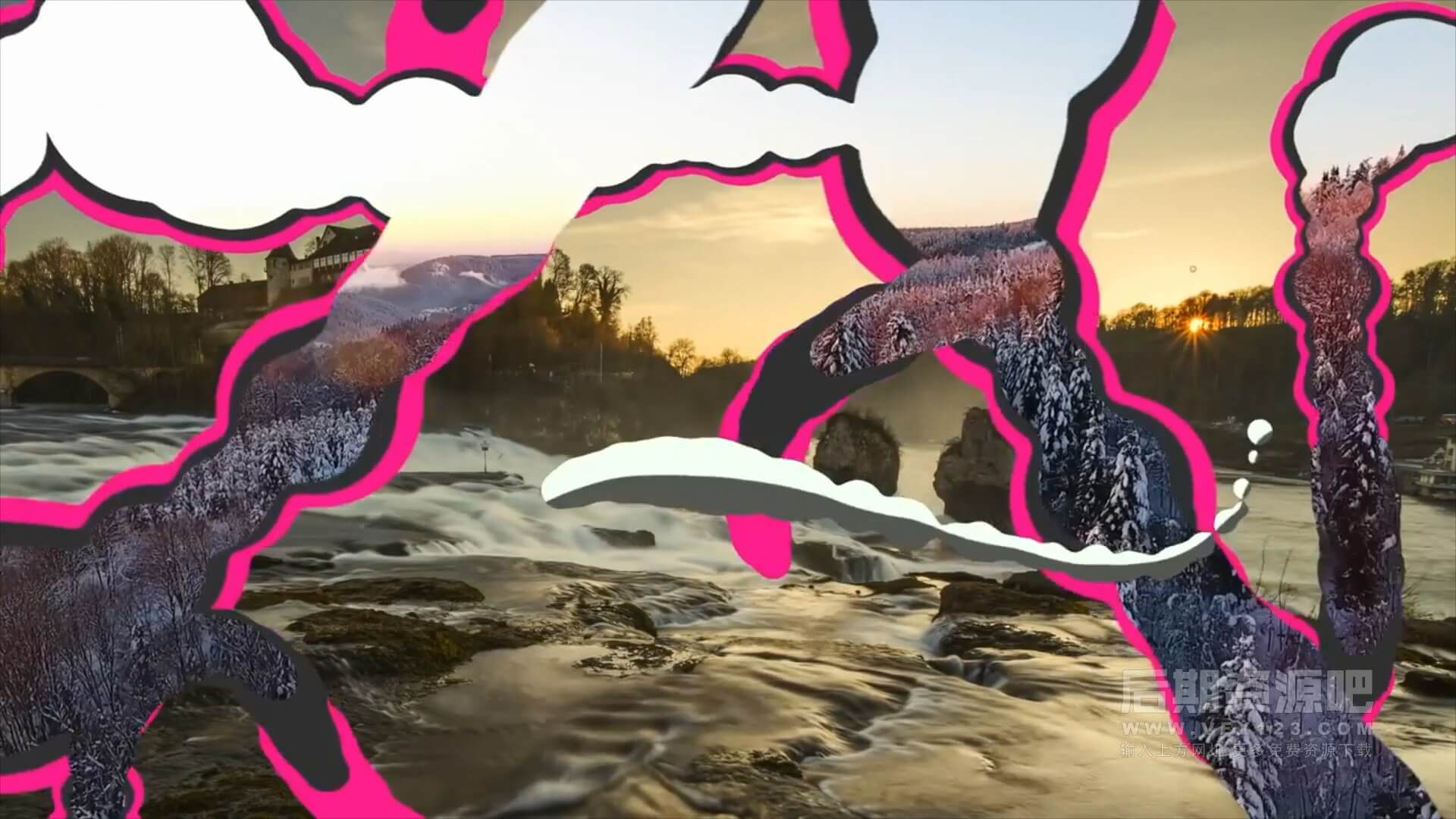 fcpx插件 12个卡通手绘明亮彩色液体动画效果转场 Liquid Transitions
