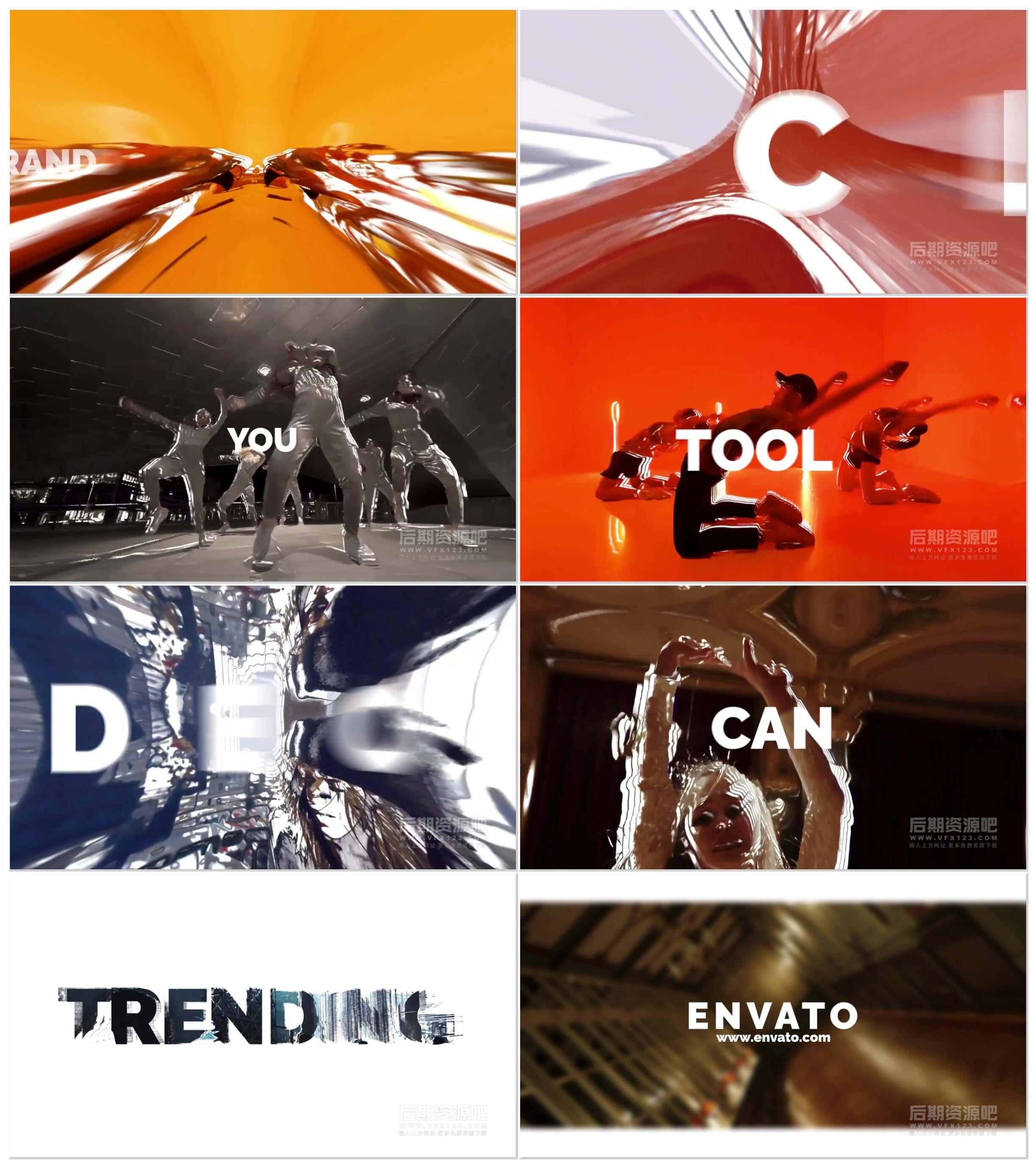 fcpx插件 激情动感时尚快节奏图文展示片头模板 Energy Slideshow