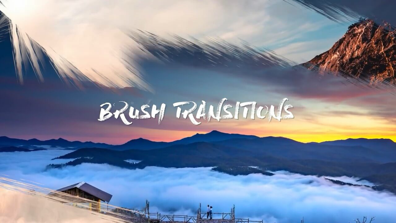 fcpx插件 15组4K清新干净笔刷转场预设 Brush Transitions