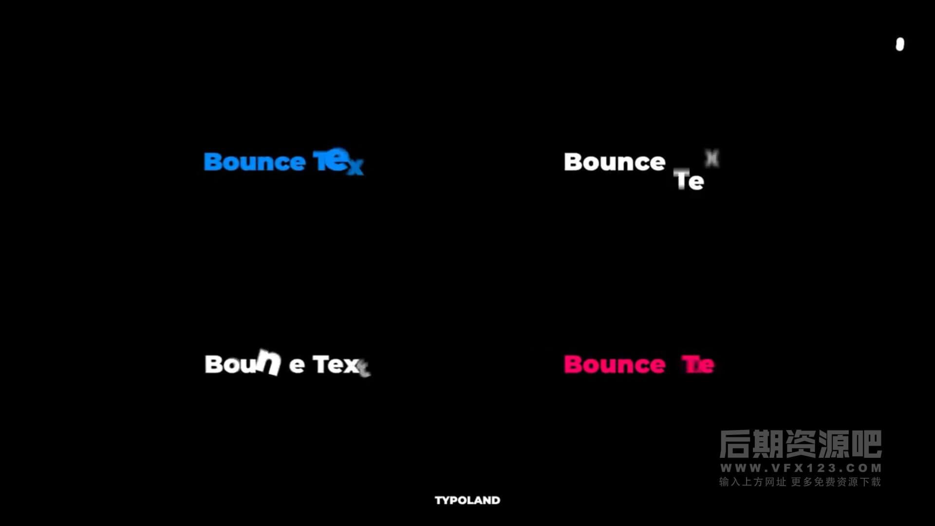 fcpx插件 16组弹跳文本动画预设 支持M1 Bounce Text Animations