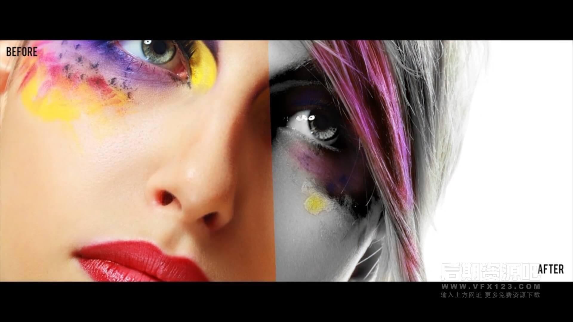 fcpx插件 影片画面局部换色颜色分级调色预设 支持fcpx 10.5.1 ProPalette