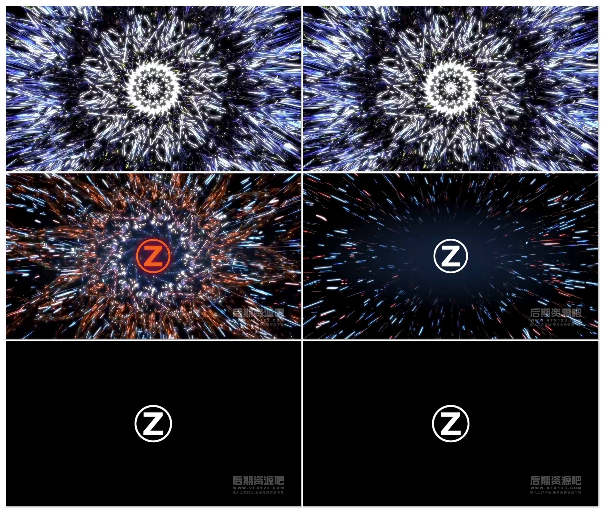 fcpx插件 万花筒抽象线条徽标LOGO展示片头模板 Abstract Hypnotic Logo