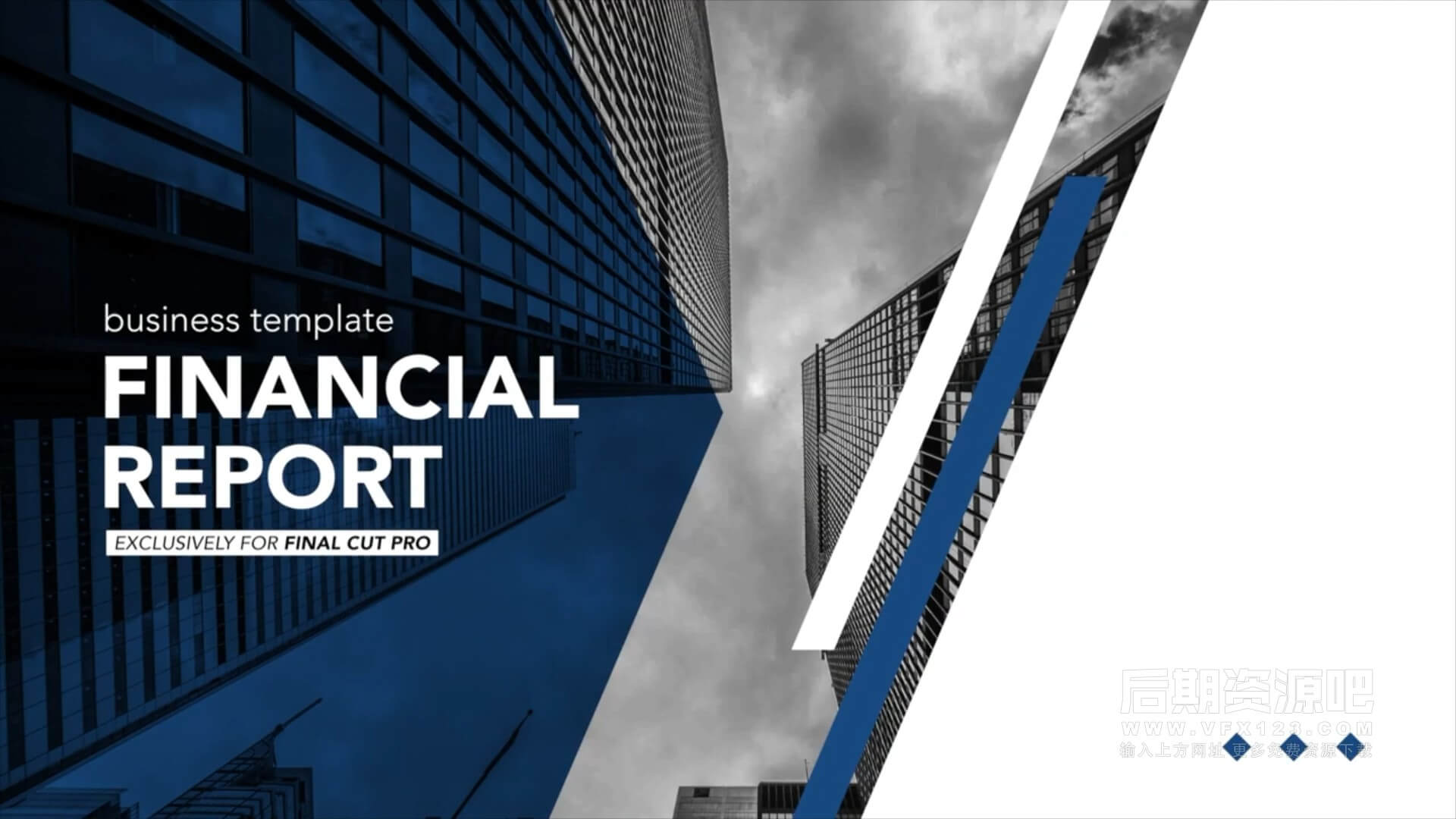 fcpx插件 商务公司数据统计信息图表演示幻灯片模板 Financial Report