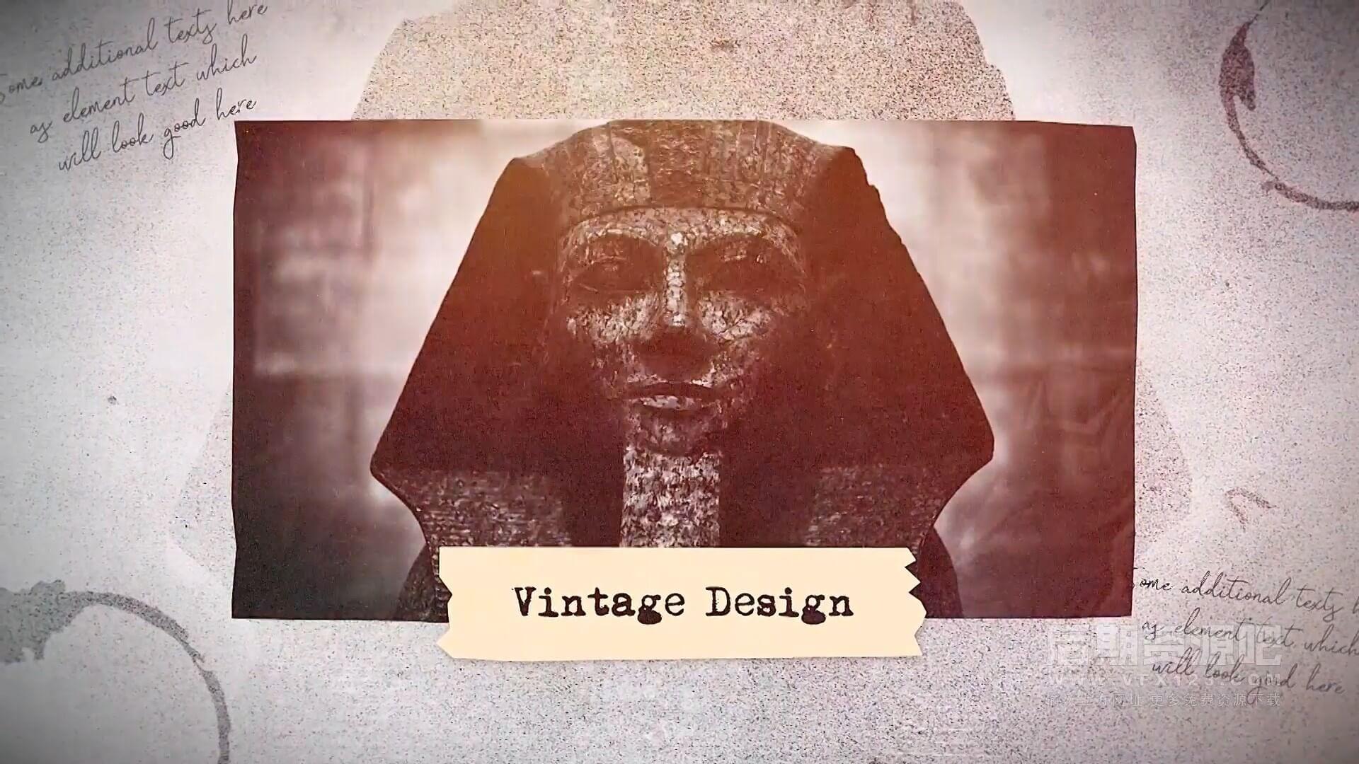 fcpx插件 复古历史回忆录老式纪念册片头模板 Vintage Presentation