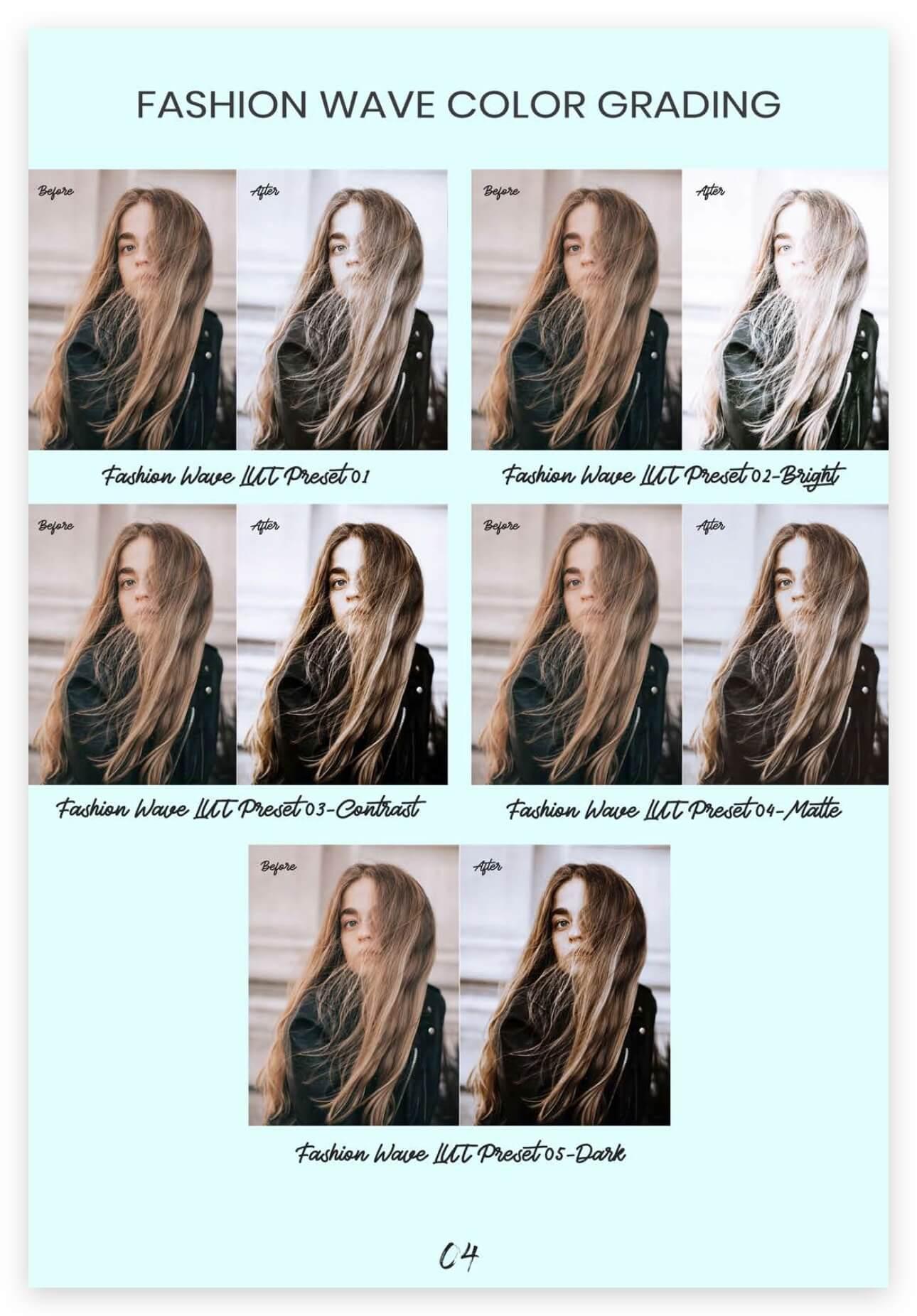 LUTs预设 31组时尚专业Vlog视频博客调色预设 Fashion Blogger Tone