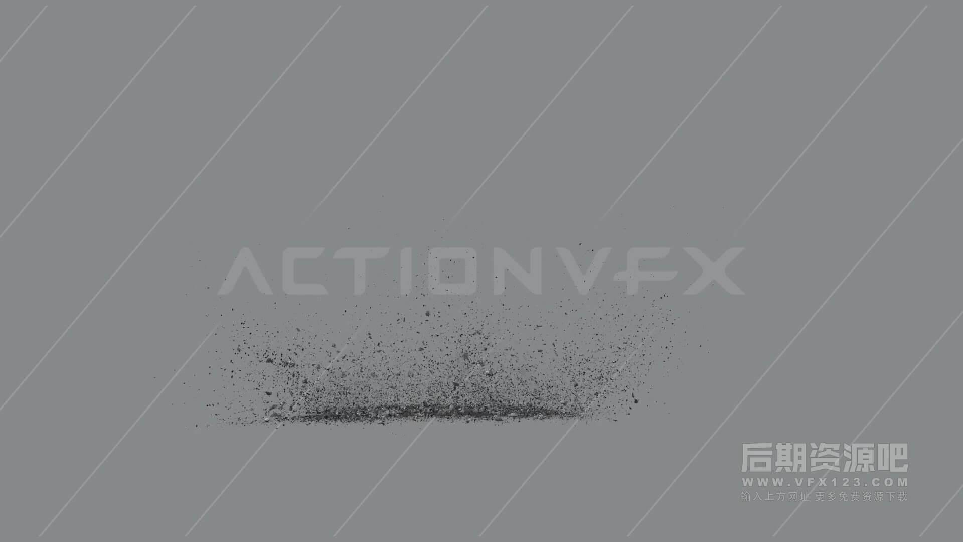 视频素材 20个爆炸混凝土碎屑飞溅特效合成素材 EXPLODING DEBRIS VOL. 2