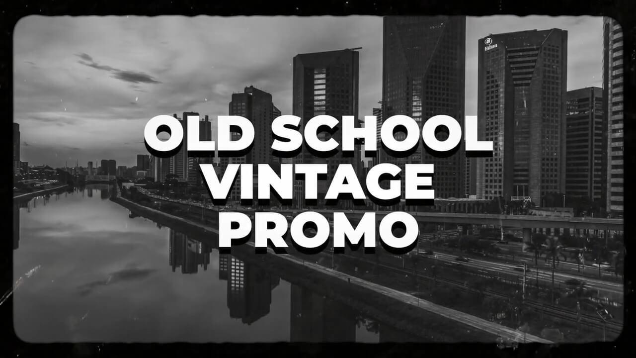 fcpx插件 模拟黑白风格老电影图文展示模板 Old School Vintage Film