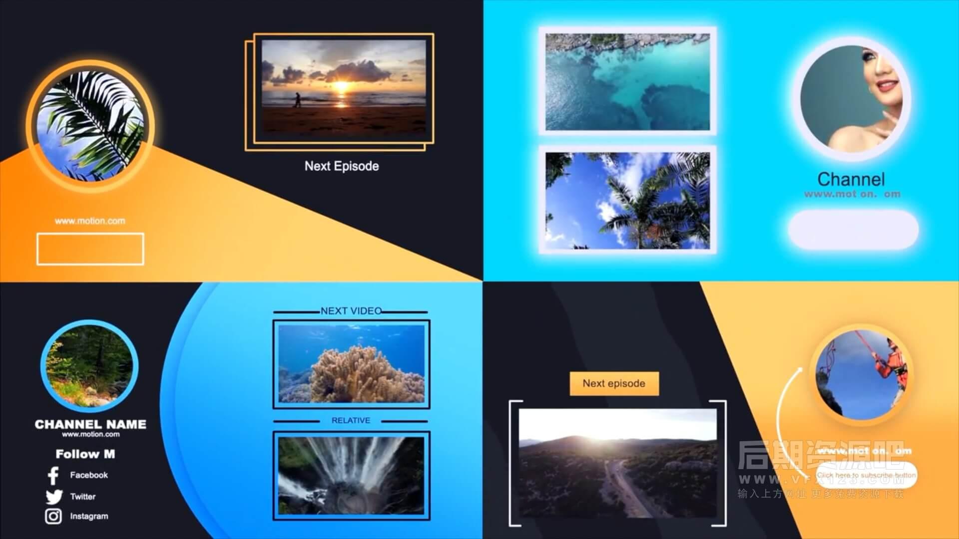 fcpx插件 自媒体短视频博主影片制作工具包 第五季 点赞订阅Emojis表情片尾预告等
