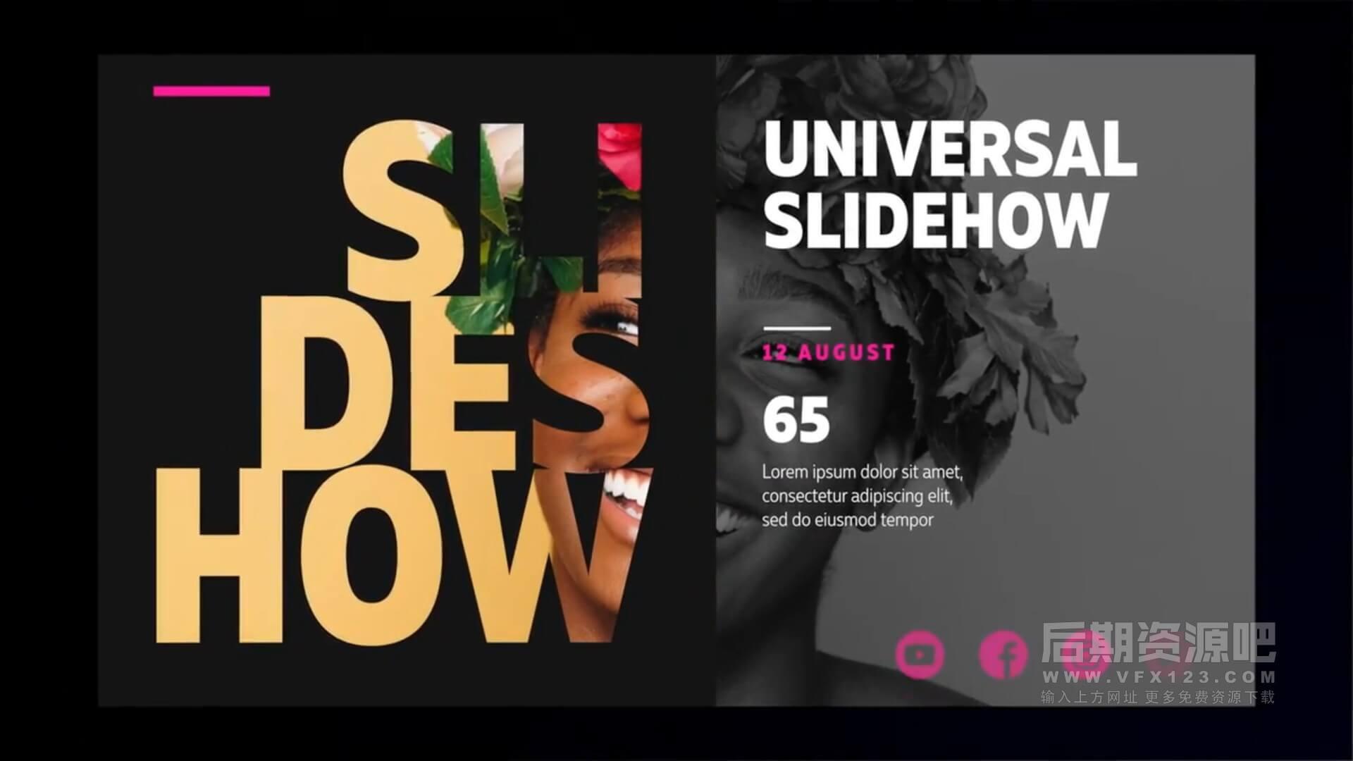fcpx插件 现代时尚版式图文展示片头模板 Universal Design Promo