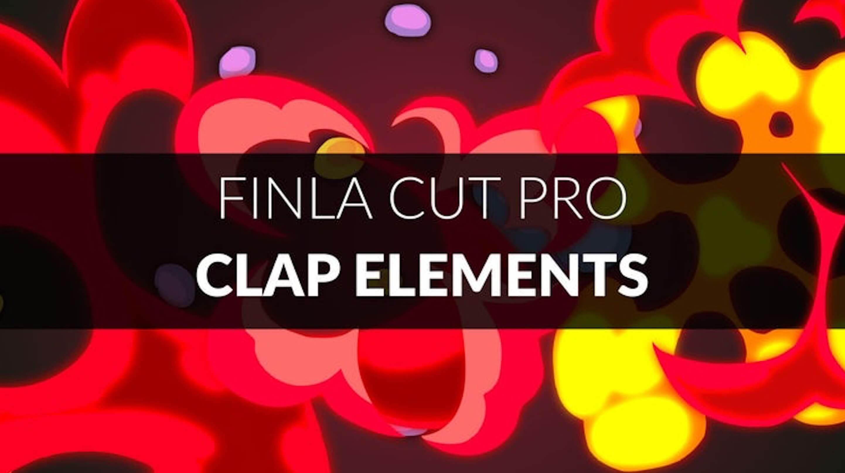 fcpx插件 16个精美炫酷装饰MG动画元素 可更改颜色 Clap Elements