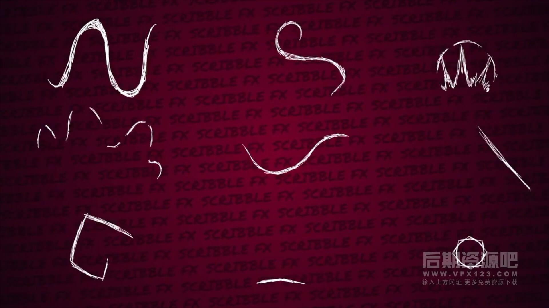 fcpx插件 22个炫酷涂鸦装饰动画元素 支持fcpx 10.5.1 Scribble Elements