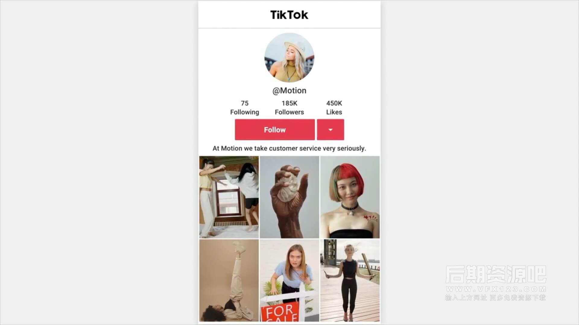 fcpx插件 抖音账号推广视频制作模板 包括UI界面等 TikTok Promo