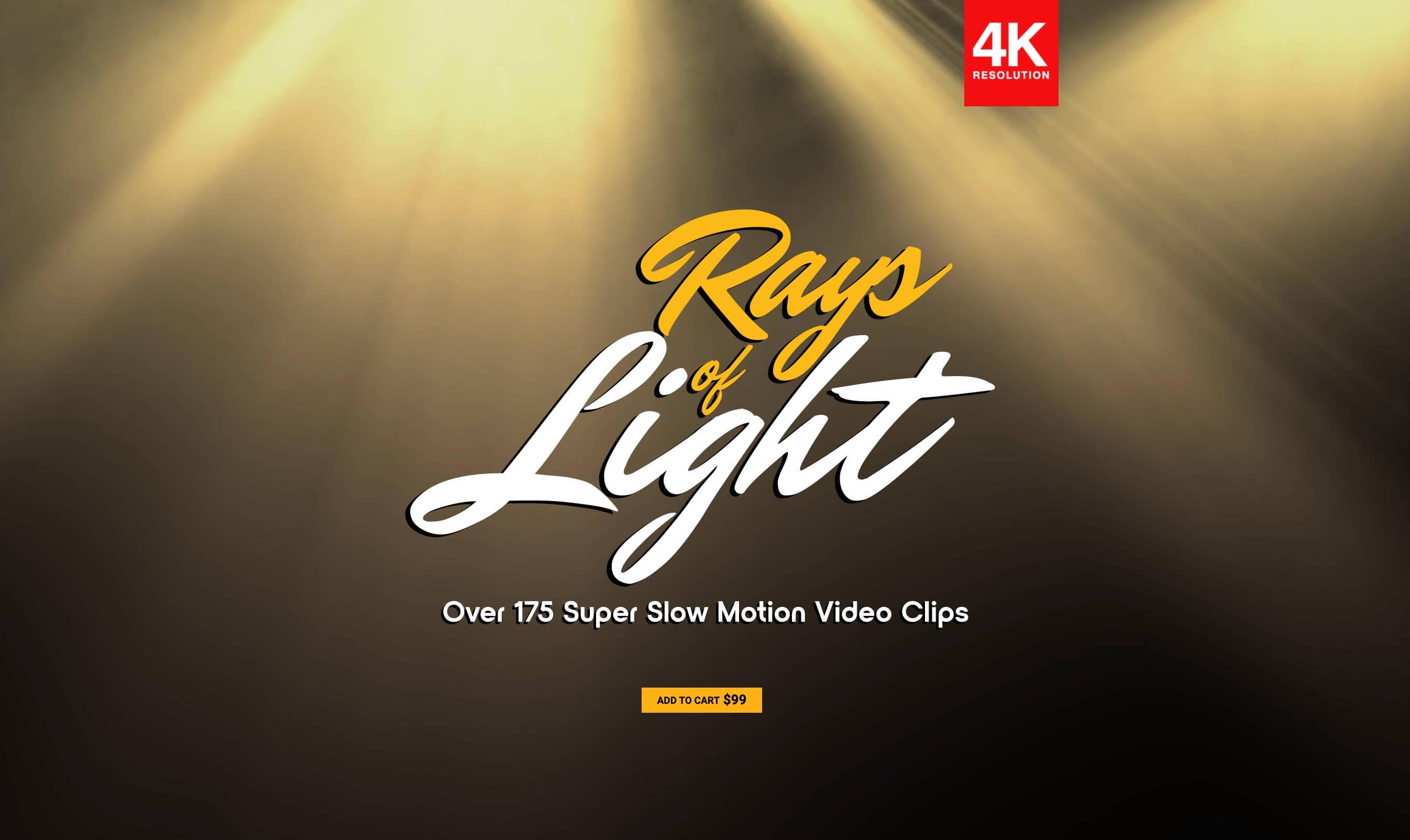 视频素材 176个4K体积光聚光灯光线照射动画 特效合成素材 Rays Of Light BBV18