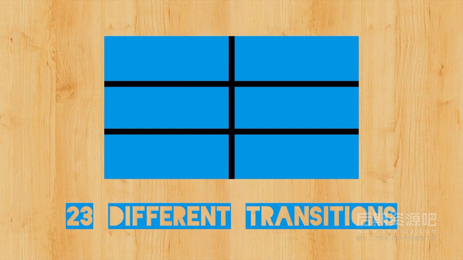 fcpx插件 23种多屏分割样式745个过渡动画转场预设 支持M1 Block Pop