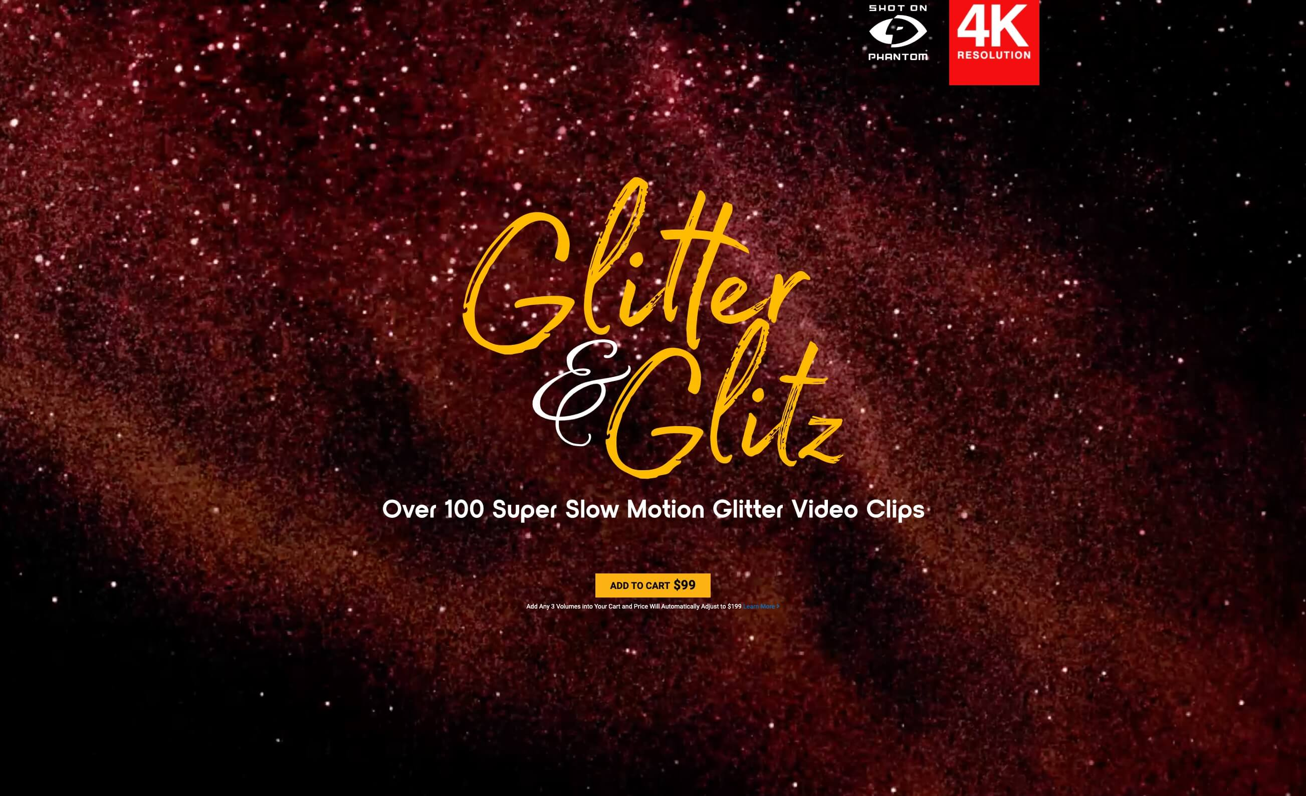 104个4K华丽闪耀发光金粉粒子动画 特效合成素材 Glitter Glitz BBV09