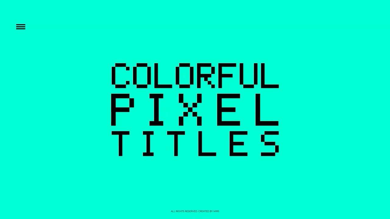 fcpx插件 炫彩像素风格文字标题模板预设 Colorful Pixel Titles