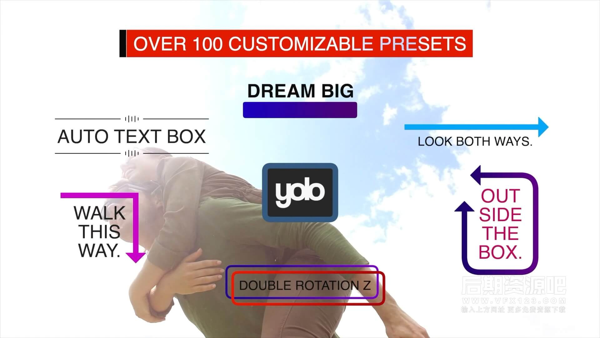 fcpx插件 104组文字标题自动添加按钮形状气泡外框等装饰动画预设 AutoTextBox