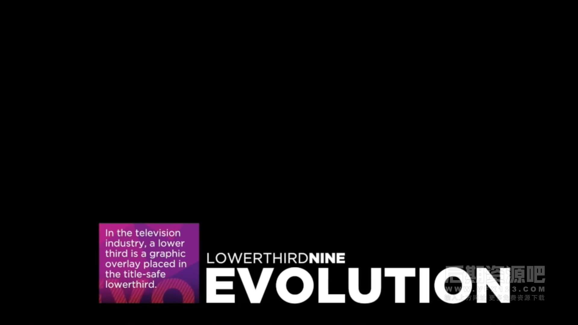 fcpx插件 10组时尚动感标题预设下三分之一字幕条模板 Evolution Lower-Thirds