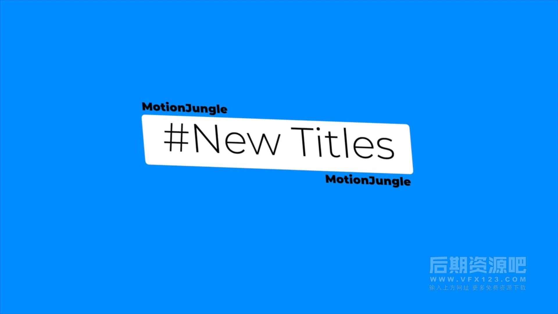 fcpx插件 5组新颖时尚简约标题版式背景动画模板 New Titles