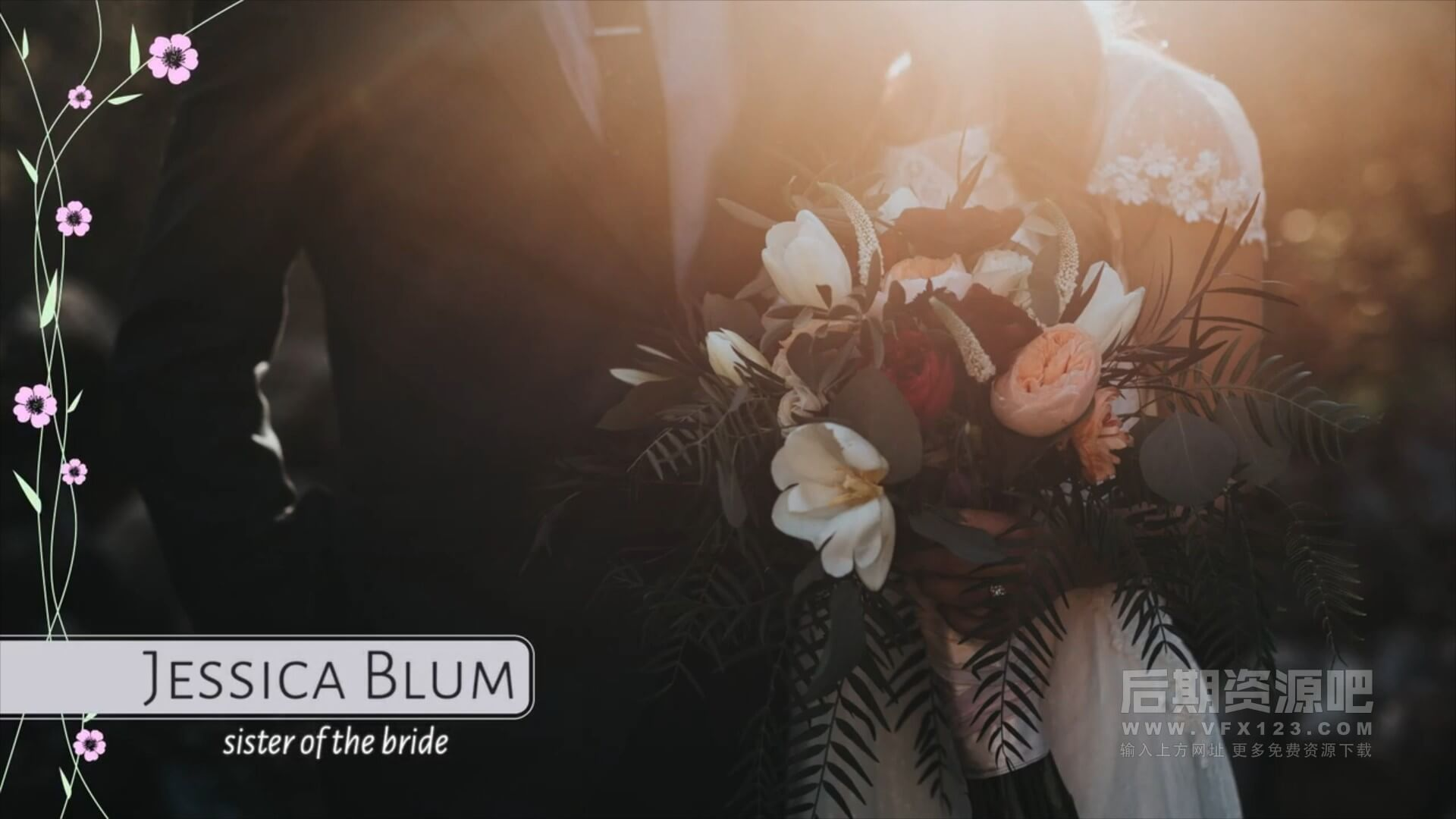 fcpx插件 8组婚礼MV影片标题字幕条预设模板 Wedding Lower Thirds